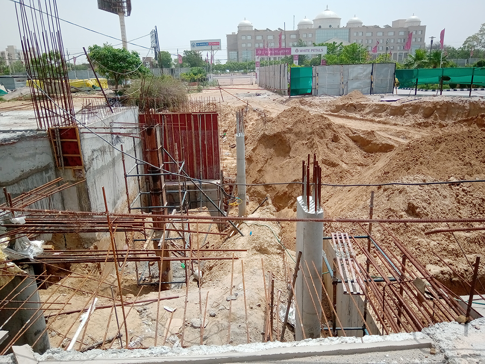 Excavation For Entrance Gate