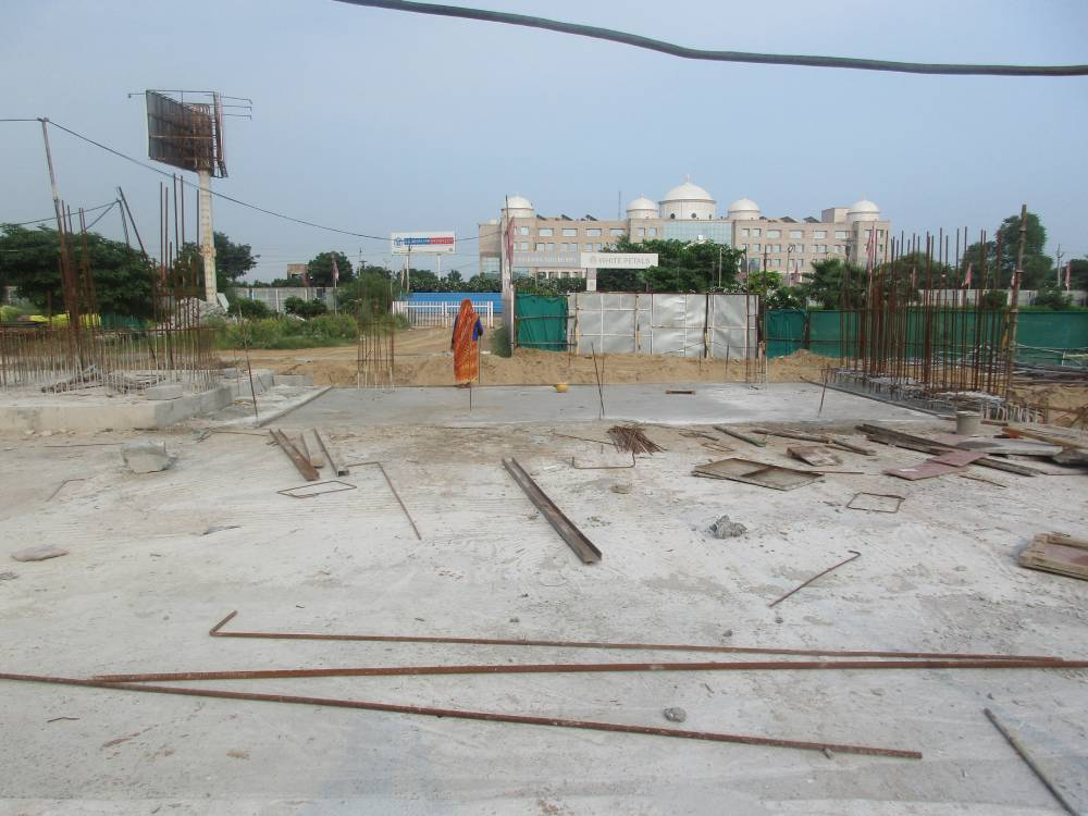 Foundation work for Entrance Gate